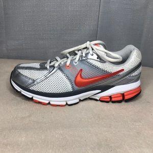 Nike Span 6 Silver White Running Shoe Sz 8